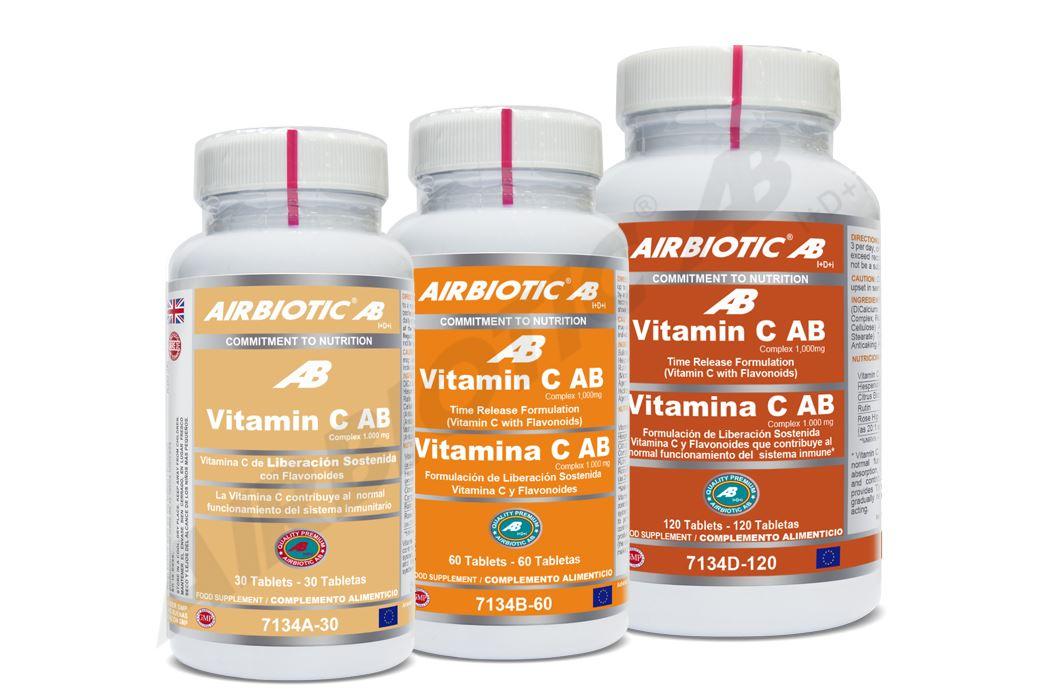 Vitamina C en tabletas de liberación prolongada, apoya tu sistema inmunológico