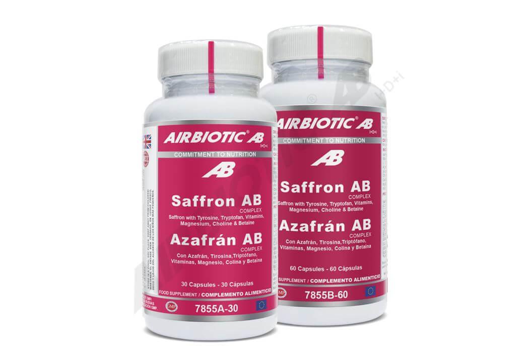 Azafrán Complex Airbiotic para la función psicológica normal