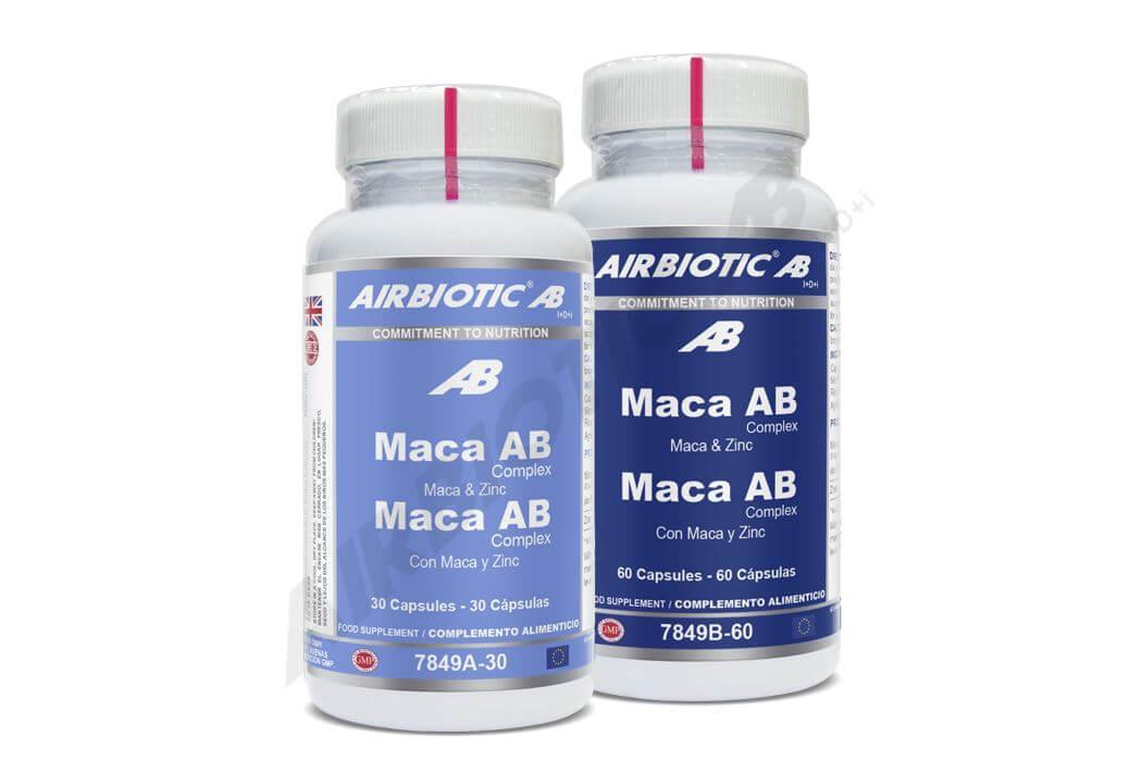 Maca Complex de Airbiotic® aporta un extracto de maca equivalente a 2.000 mg de planta, lo que le convierte en uno de los productos más concentrados del mercado.